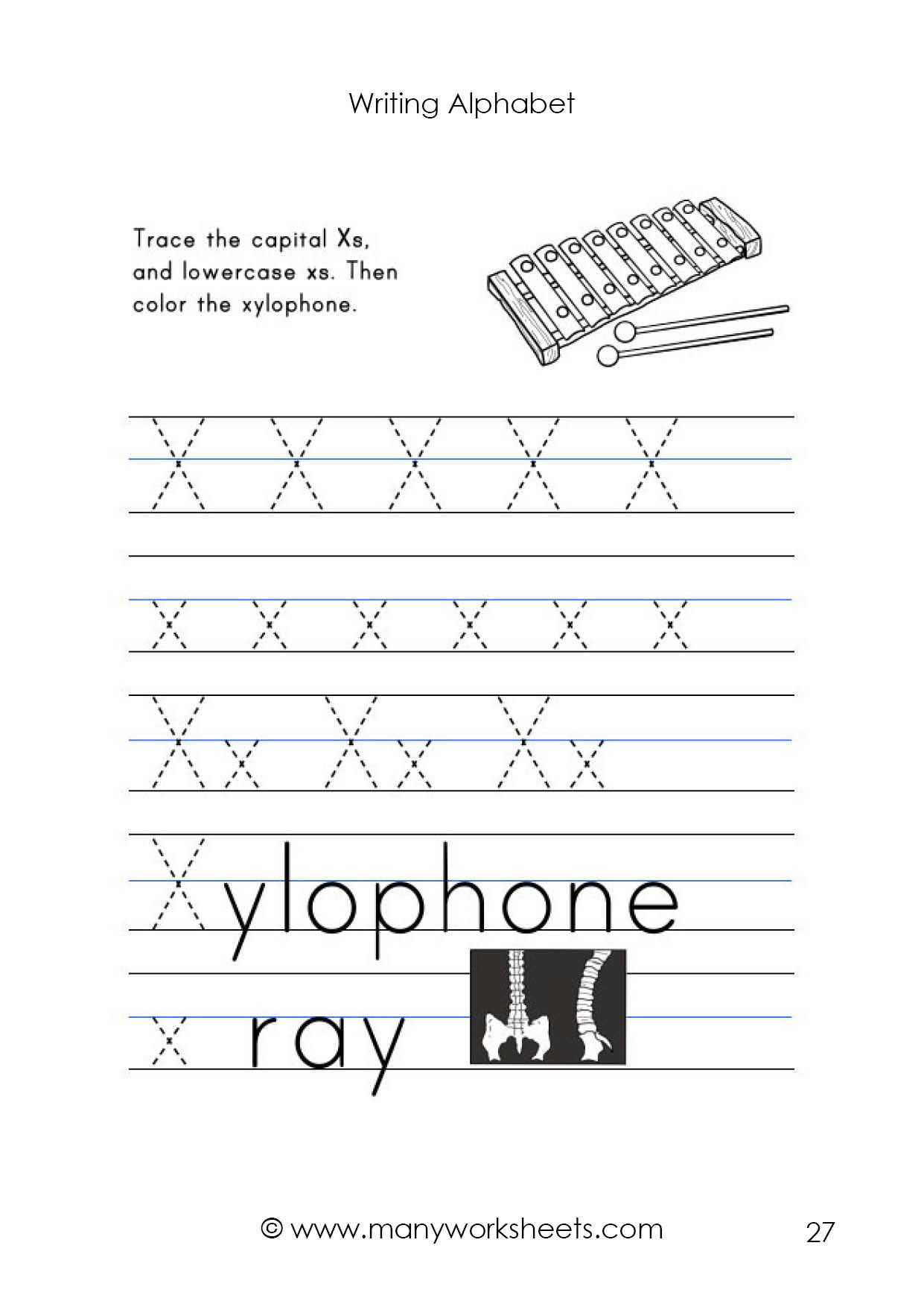 Letter X Worksheets For Kindergarten Letter X Worksheet Tracing And Handwriting In 2020 Kindergarten Worksheets Kindergarten Worksheets Printable Preschool Letters