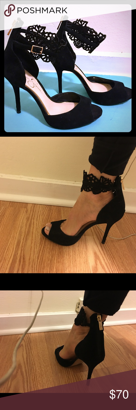 Jessica Simpson black pumps. Jessica Simpson, black pumps.  Super sexy and really comfortable. I used them once for the work Christmas party!!! No regrets :). Jessica Simpson Shoes Heels