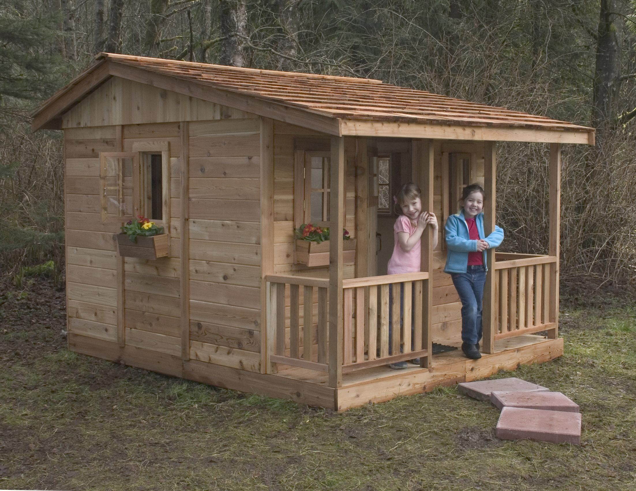 Cozy Cabin 9 X 7 Cedar Playhouse Pallet Playhouse