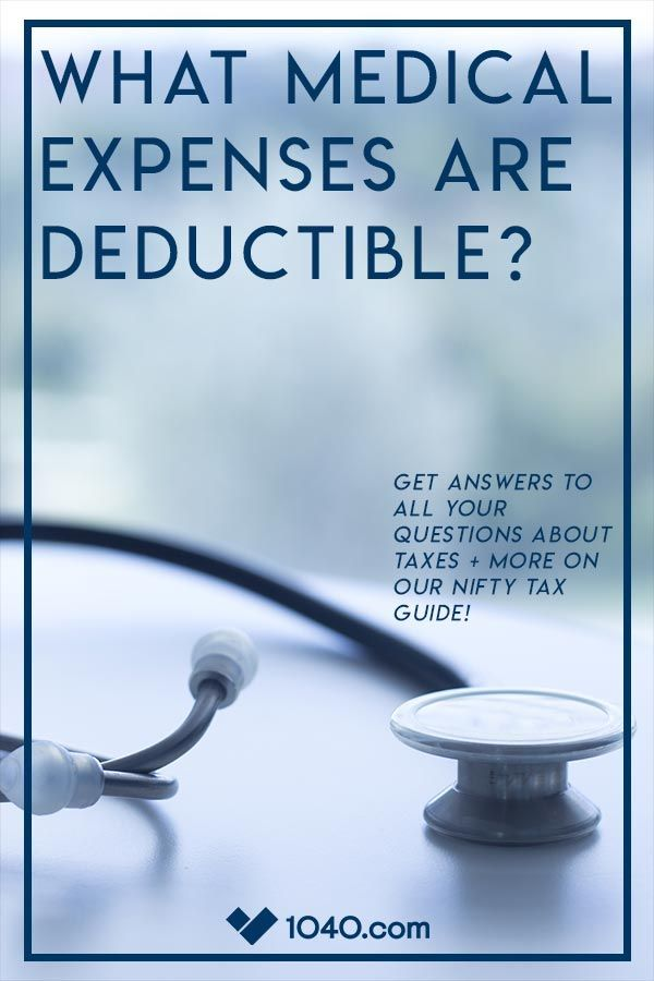 What Medical Expenses are Deductible? in 2020 | Health ...