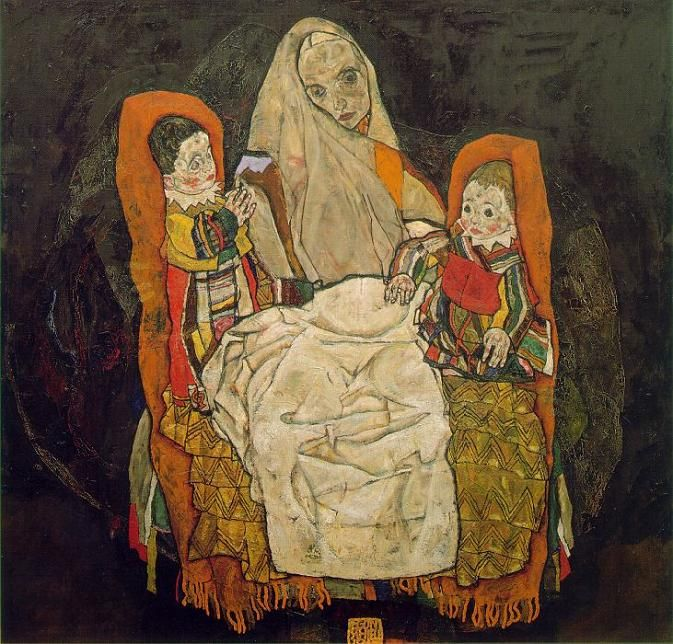 Egon Schiele - Mother and Two Children (1917)