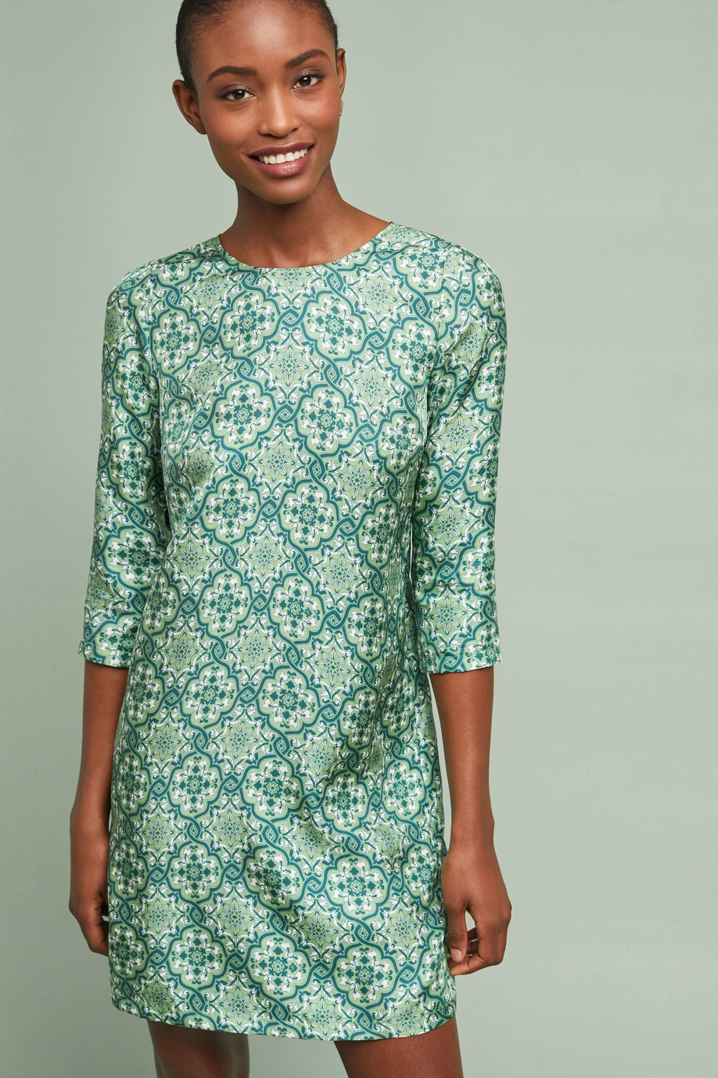 Ines Silk Tunic Dress in 2019 | Clothes, Dresses, Silk tunic