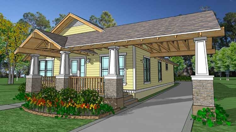 Craftsman Style House Plan 3 Beds 2 Baths 1320 Sq Ft Plan 1007 19 Small Craftsman House Plans Craftsman House Plans Craftsman House