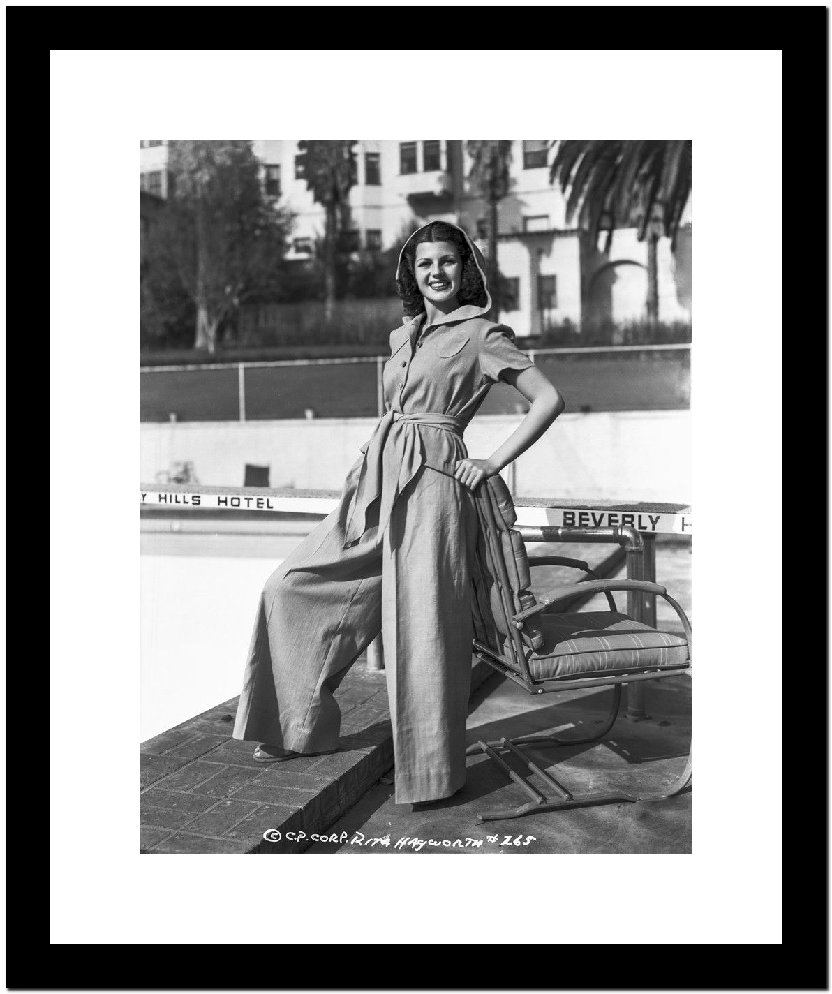 Rita Hayworth Posed with a Hoody Premium Art Print