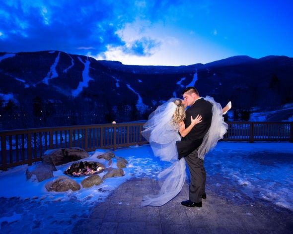 Winter Wedding In Vermont At Stowe Mountain Lodge Stuff