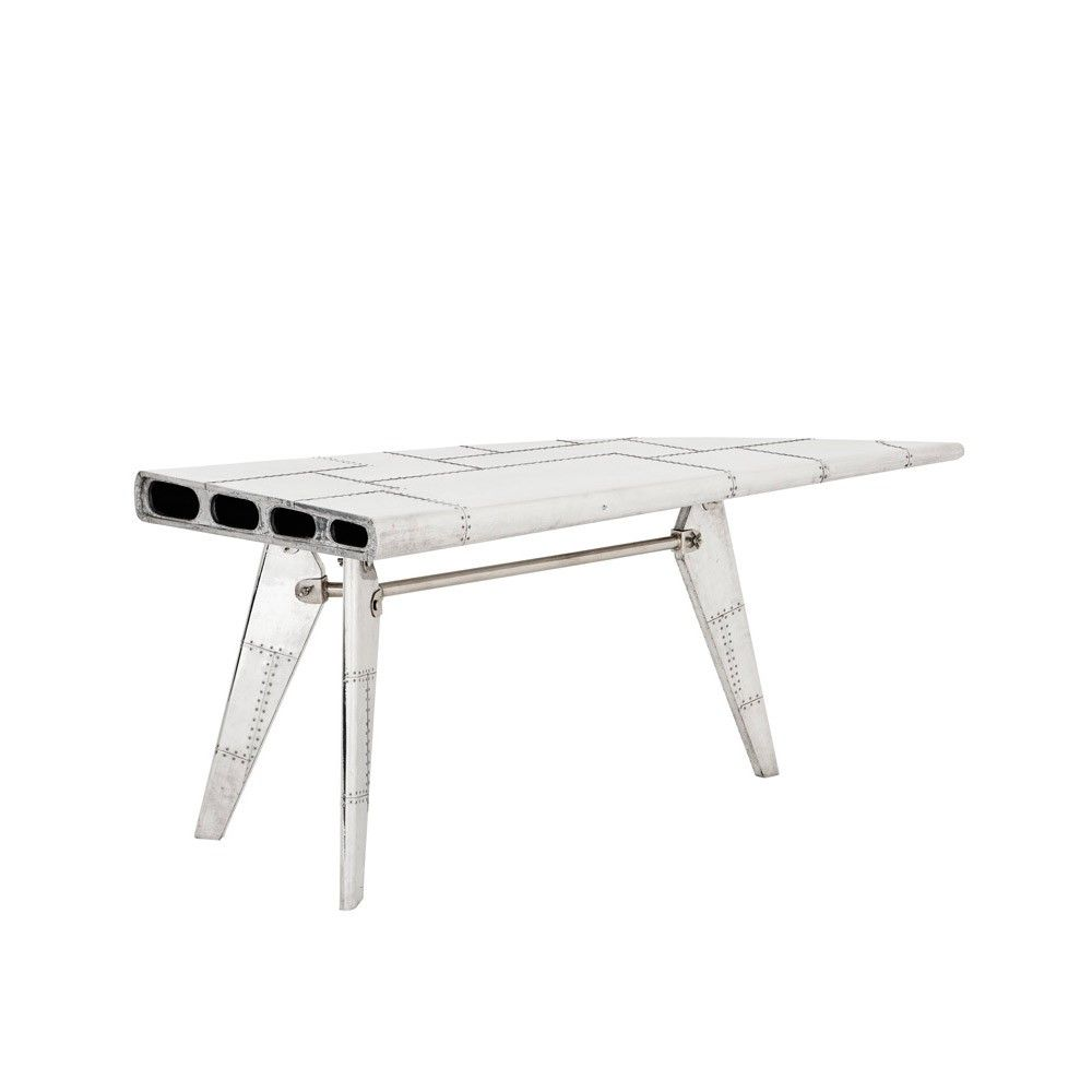 Airplane Wing Coffee Table Eichholtz Convair Desk Aviator Style Metal Wing Shaped Desk