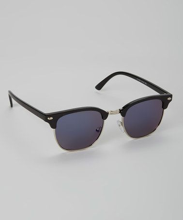 Look at this #zulilyfind! Black & Smoke Stylish Sunglasses #zulilyfinds