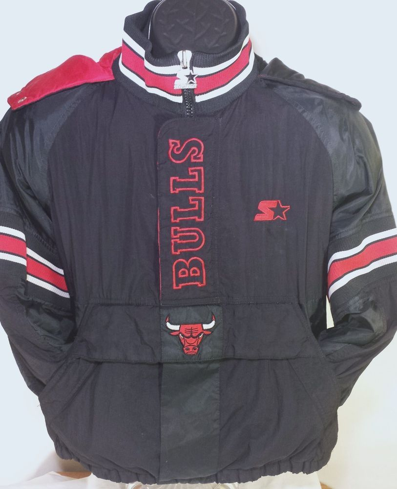 f3b69c871206 Vintage Chicago Bulls NBA Youth Size Medium Starter Pullover Winter Jacket  Coat  Starter  ChicagoBulls
