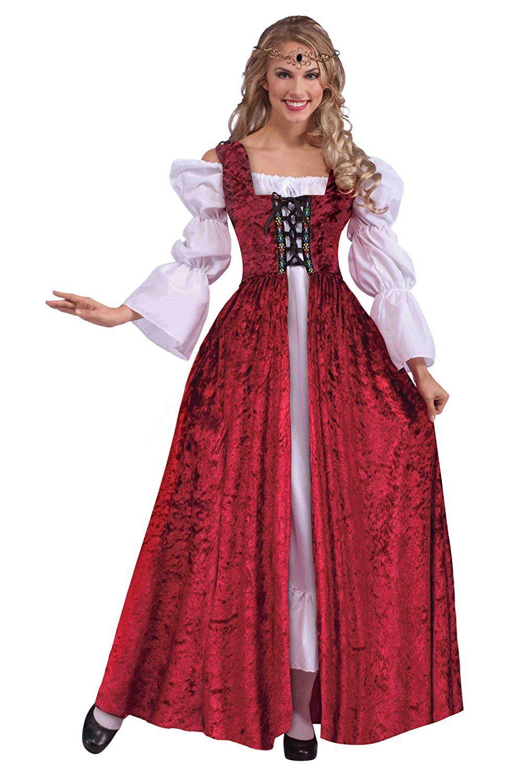 Amazon.com: Forum Novelties Women's Medieval Lace-Up Costume Gown ...