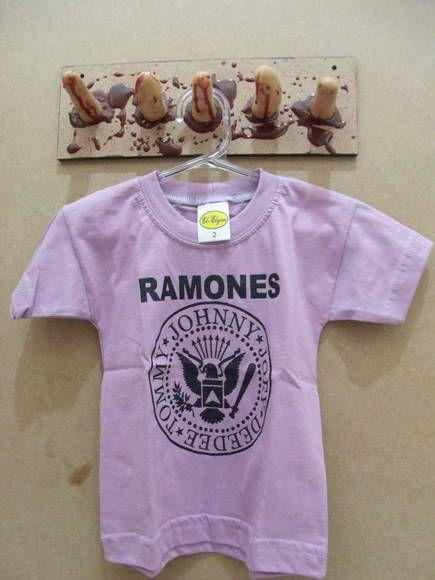9423f19863577 Camiseta Infantil Ramones Cor  Lilás Tamanho 4 anos R  30