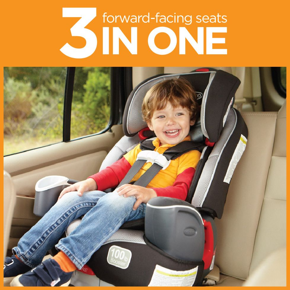 Graco\'s top-rated Nautilus™ 3-in-1 is a harness seat, a high-back ...
