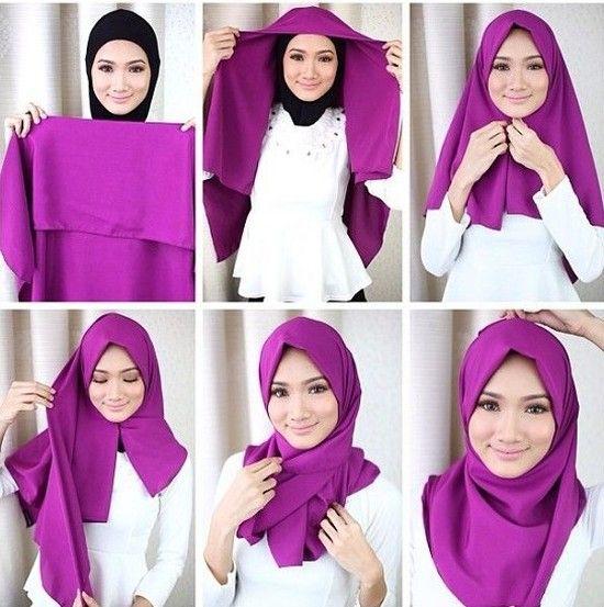 11 tutorial hijab segi empat simpel ini akan membuat kamu anggun dan tambah cantik papasemar