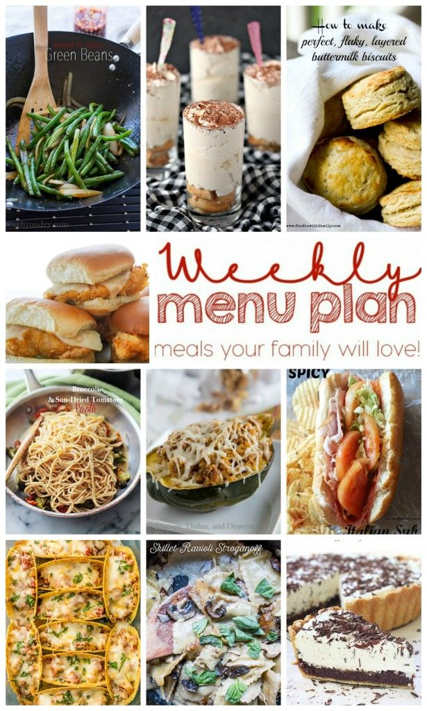 Weekly Meal Plan Week 25 - 10 great bloggers bringing you a full week of recipes including dinner, sides dishes, and desserts! #weeklymealprep