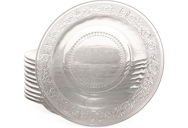CLEARANCE-Madrid Depression Glass Clear Bowl for Salad or Soup