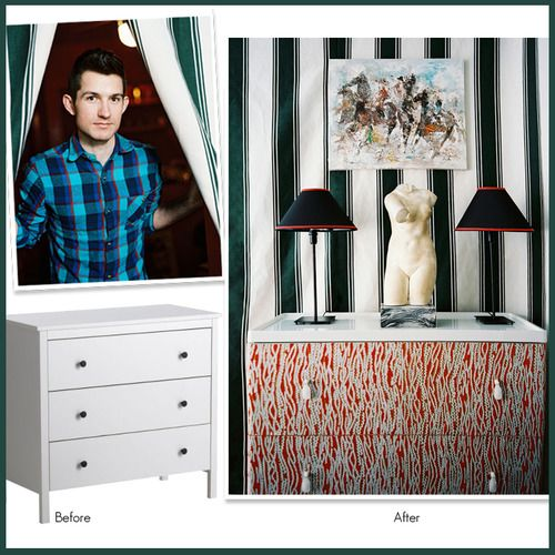 How to Cover Dresser Drawers With Fabric