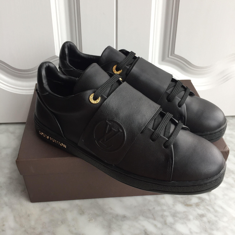 all black louis vuitton shoes