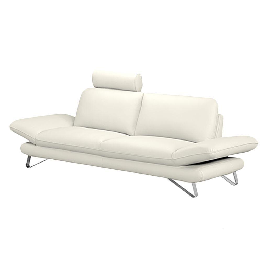 Außergewöhnlich Sofa Mit Kopfstütze Sammlung Von Enzo (2,5-sitzer) Echtleder Weiß - Kopfstütze Jetzt