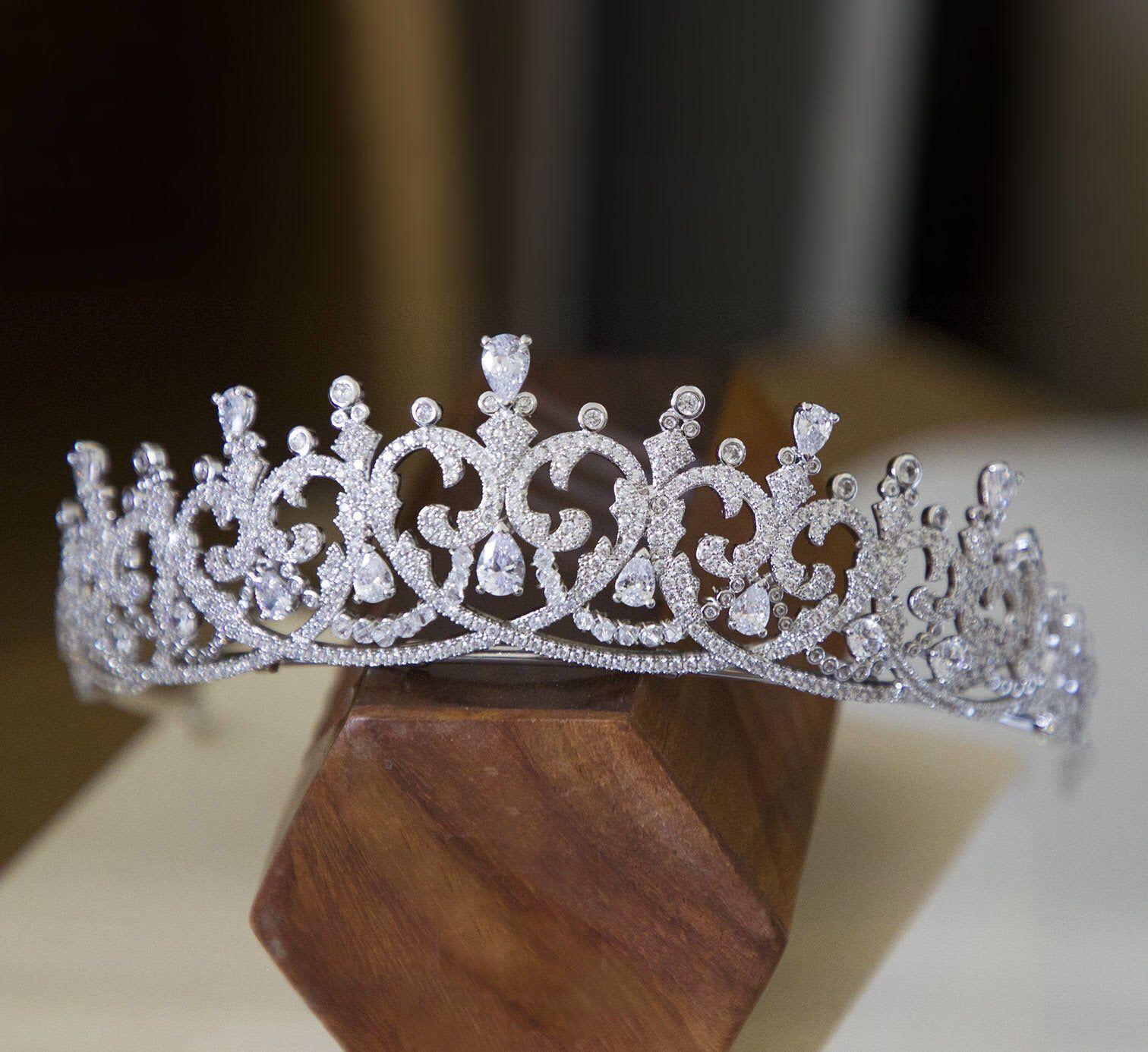 Baroque Branch Bridal Crown Rhinestone Tiara Dragonfly Hair Accessory Splendid