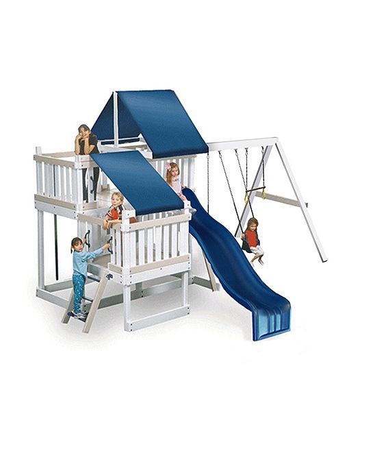 White & Sand Congo Monkey Play System Two Play Set