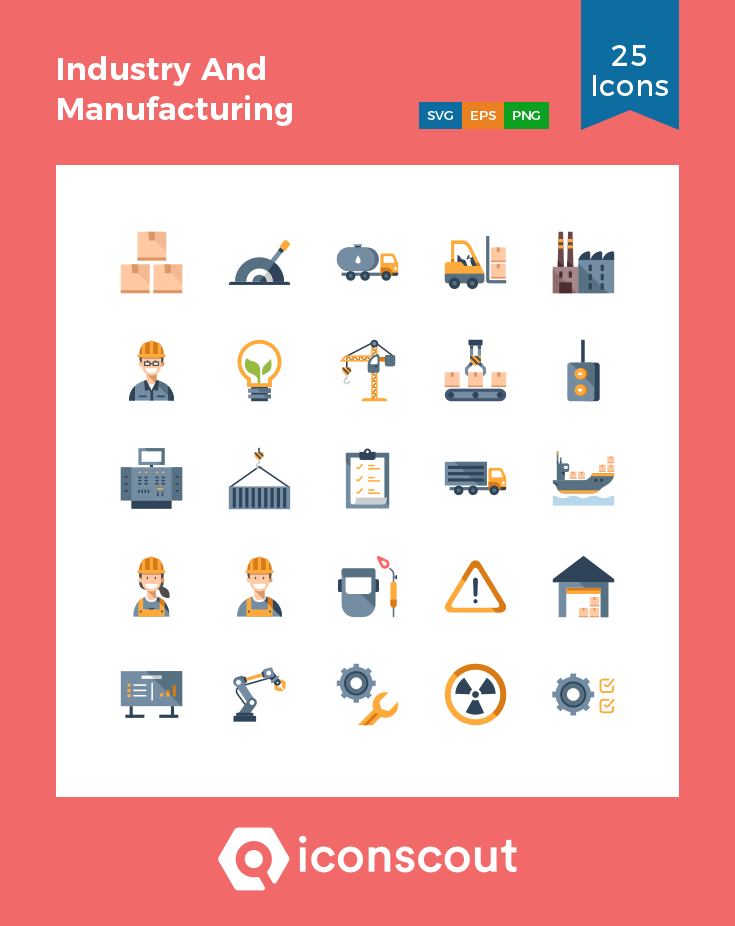 Download Industry And Manufacturing Icon Pack Available In Svg Png Eps Ai Icon Fonts Icon Pack Icon Manufacturing