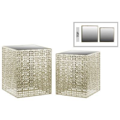 Urban Trends Metal Square 2 Piece Nesting Tables