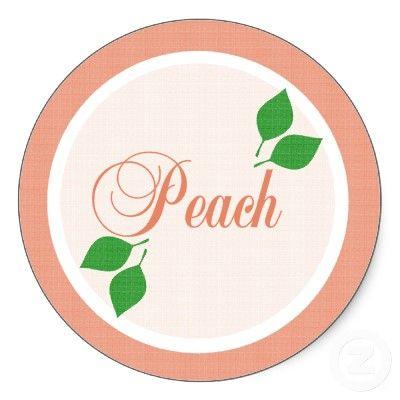 Peach Fruit label