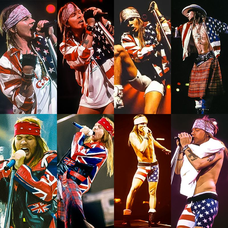 Axl Rose in flags