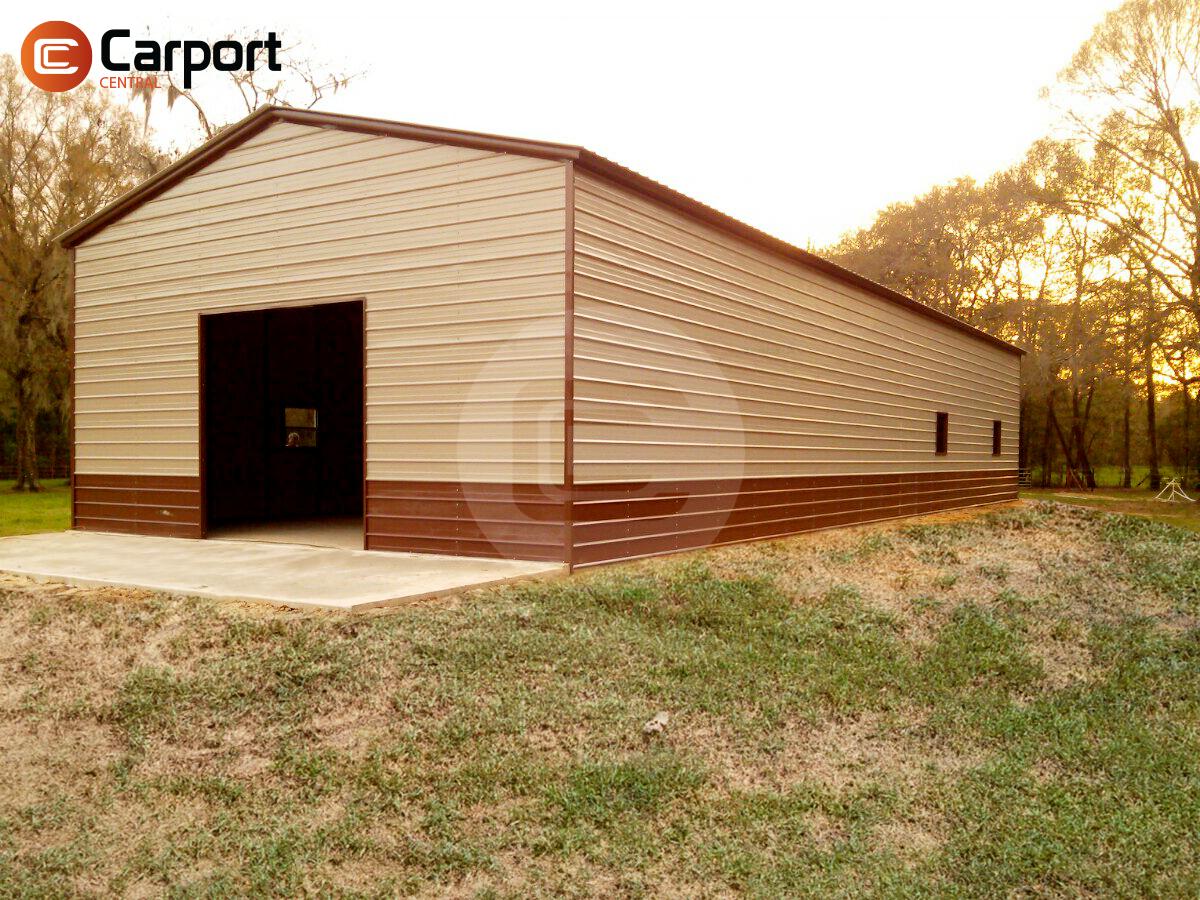 24x51 Vertical Garage Building Metal Structure