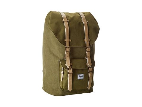 005229fec4 Herschel Supply Co. Little America Canvas Washed Army Army - Zappos.com  Free Shipping BOTH Ways