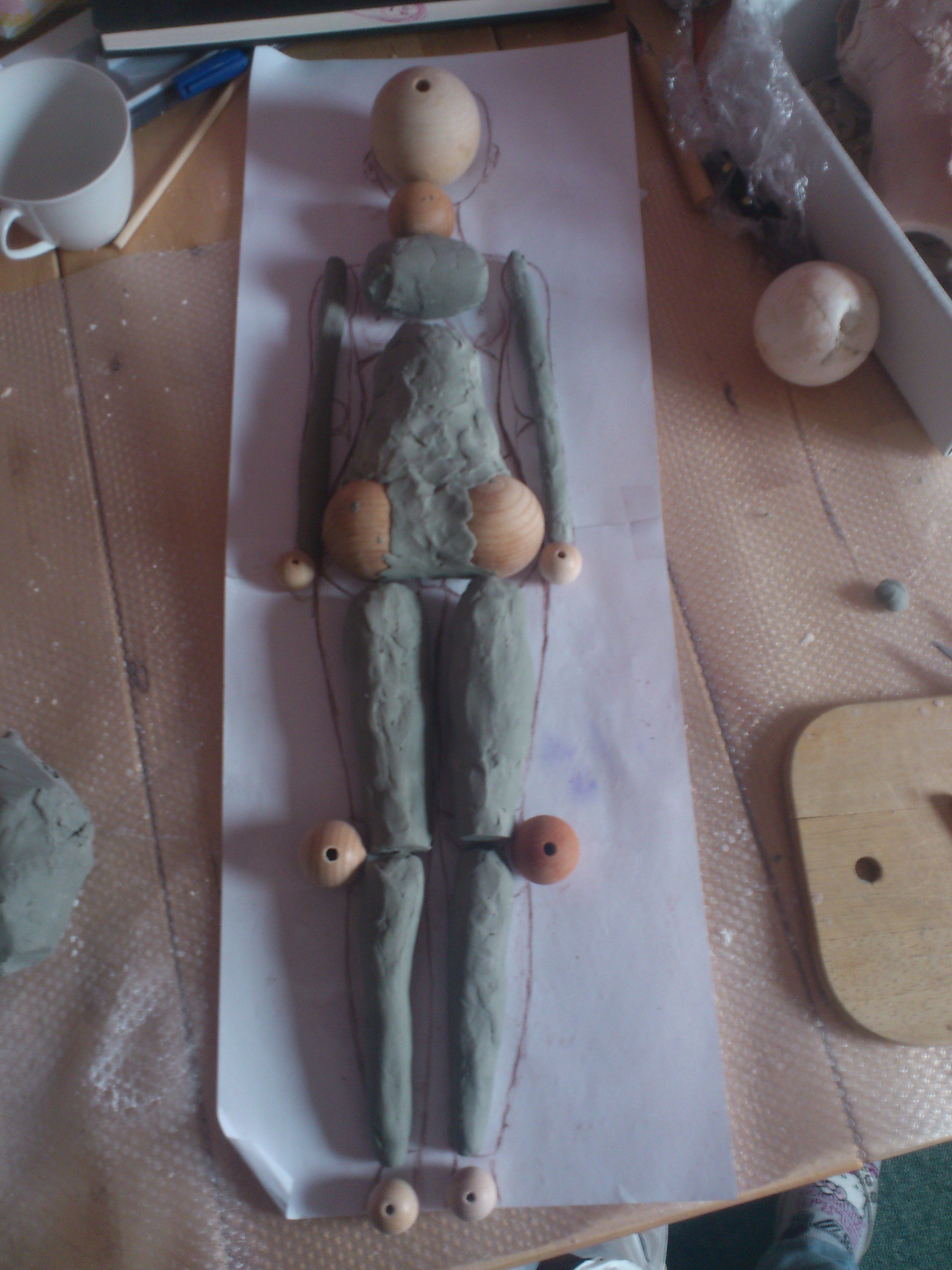 Making Of The Core With Plasticine Ball Jointed Dolls Doll