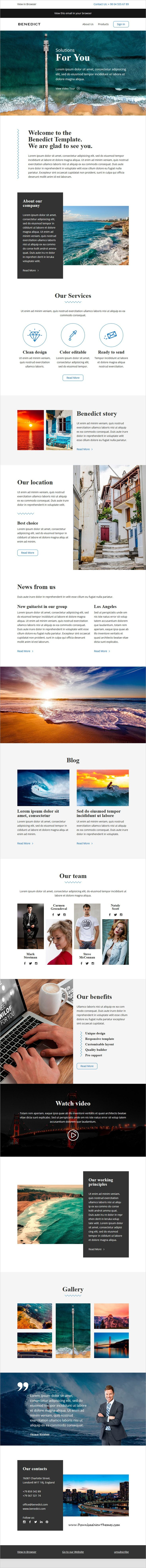 benedict email template online builder responsive email