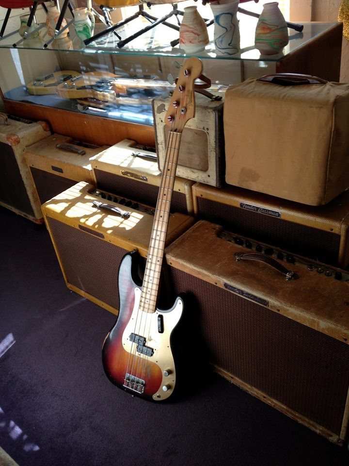 1958 Fender Precision bass at Mikes Music in Cincinnati