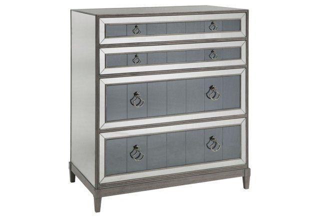 Best Evelyn 32 Two Tone Mirrored Chest Gray Mirrored 400 x 300