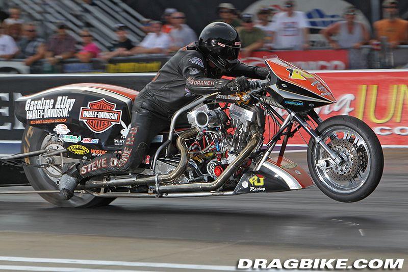 Harley Davidson Nitro Exhibition At Nhra Bristol Drag Bike