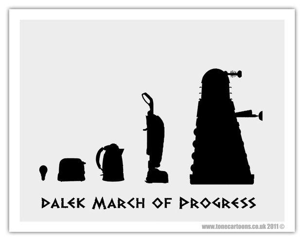 the evolution of the Dalek