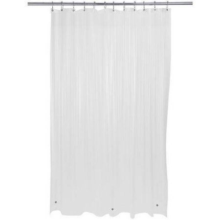 Bath Bliss Premium Shower Curtain Liner Frost Clear Shower
