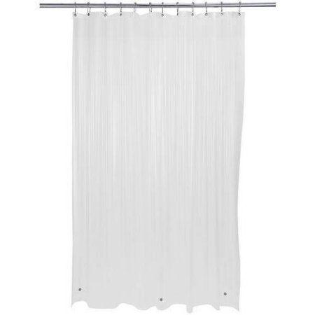 Bath Bliss Premium Shower Curtain Liner Frost Clear Shower Liner Shower Curtain Rods Shower