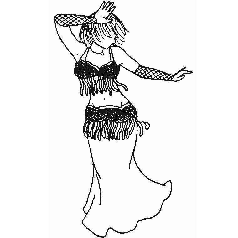 Coloriage danseuse orientale tm dessin reproduire transf rer des images cath drale et - Coloriage hawaienne ...
