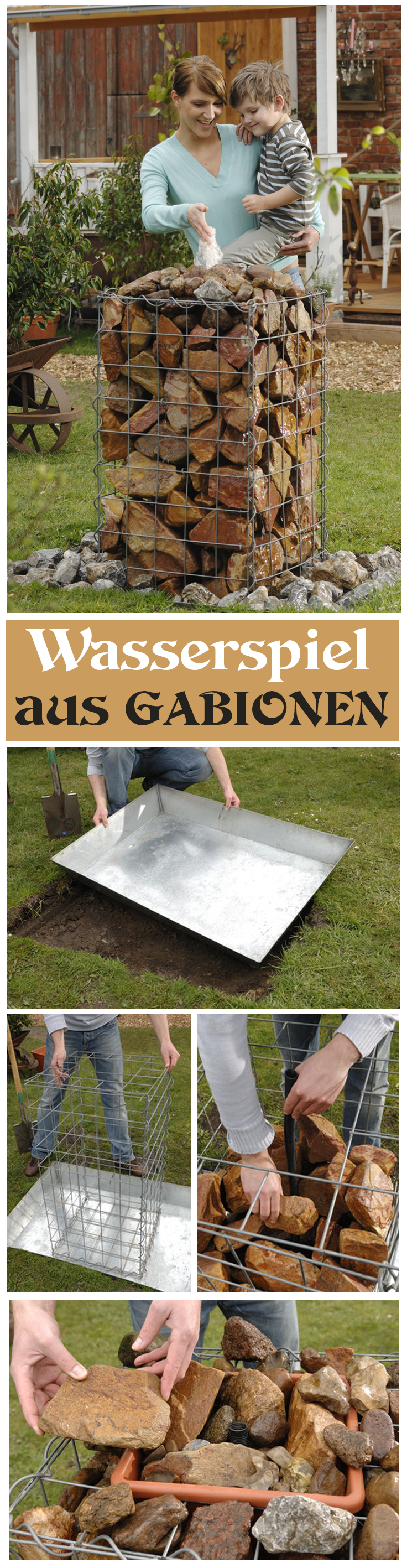 Wasserspiel: Gabionen Brunnen | Selbst.de