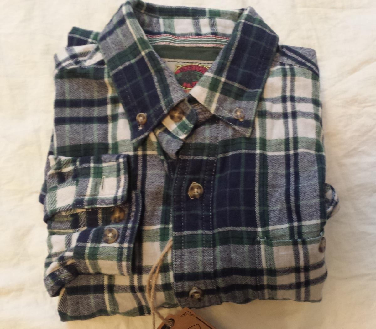 Flannel shirt men outfit  men accessories ebay BOSTON TRADERuS men size S cotton flannel shirt