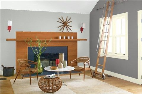 Look At The Paint Color Combination I Created With Benjamin Moore Via Wall Metropolitan Af 690 Side Cinder 705 Trim Lemon