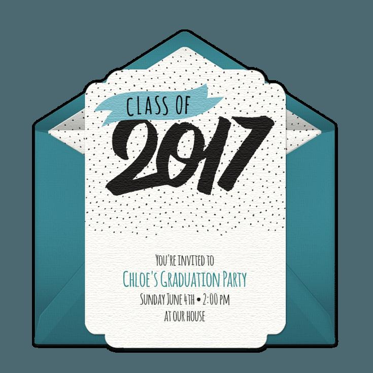 online graduation invitations free