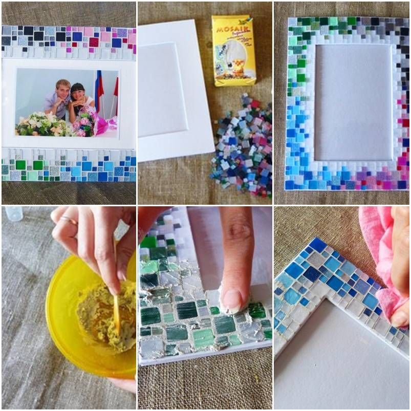 How To Make Colorful Mosaic Picture Collage Photoframe Step By