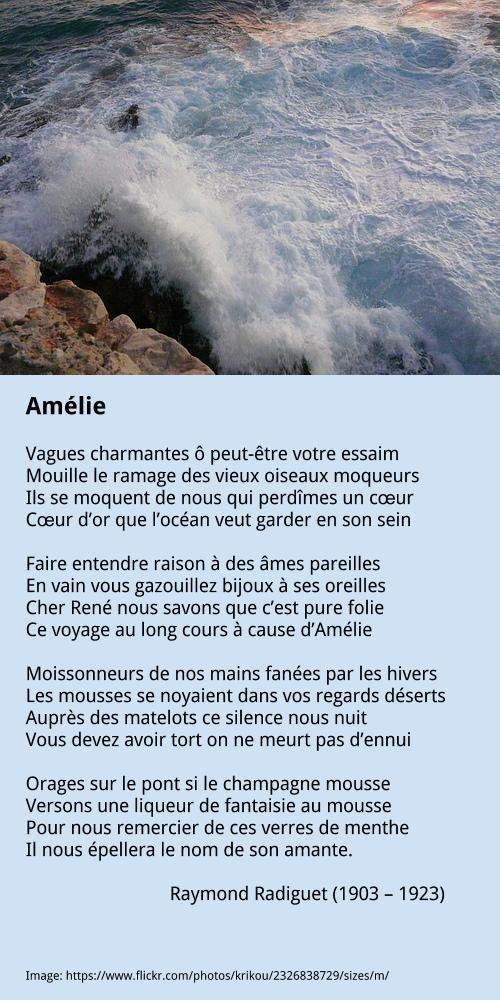 Raymond Radiguet Amelie Moqueur Raymond Radiguet Et Je Te Veux