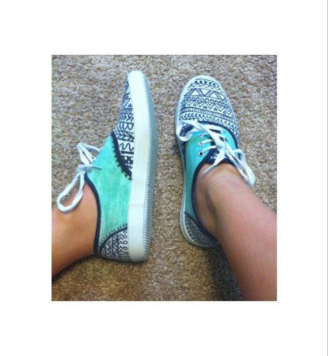 9571a65ef8389 DIY white canvas shoes that I sharpied myself :)   •k i c k s ...