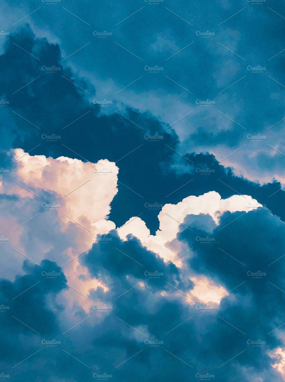 Dark Blue Sky Clouds Texture Blue Sky Clouds Sky Textures Clouds