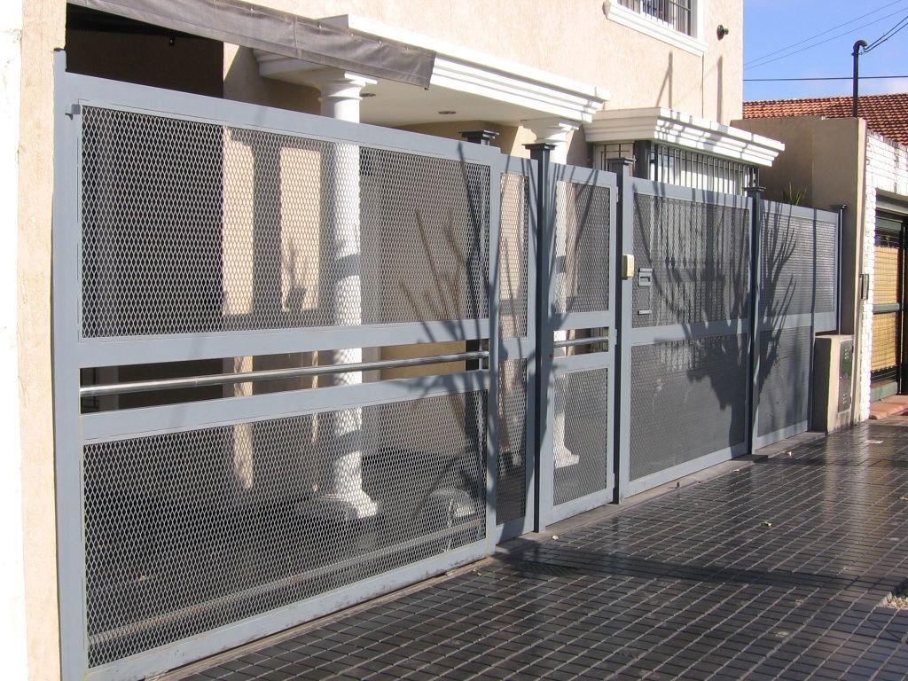 Portones en san miguel llllolvorines construmetal for Puertas prefabricadas precios
