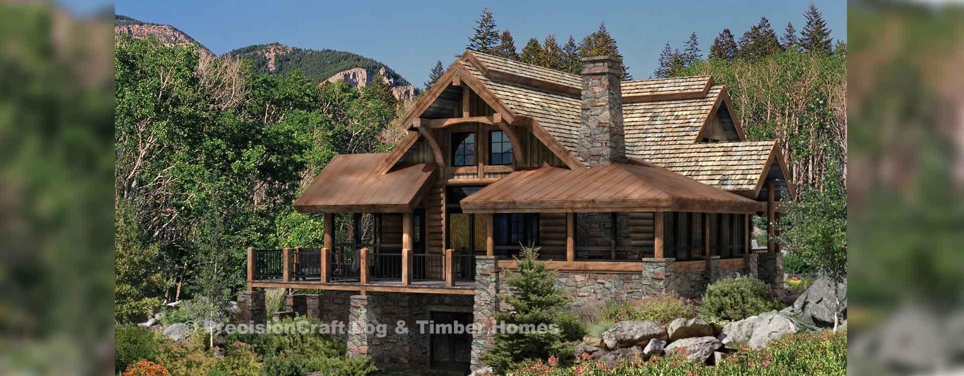 Alberbrook Rendering Log Home Floor Plans House Designs