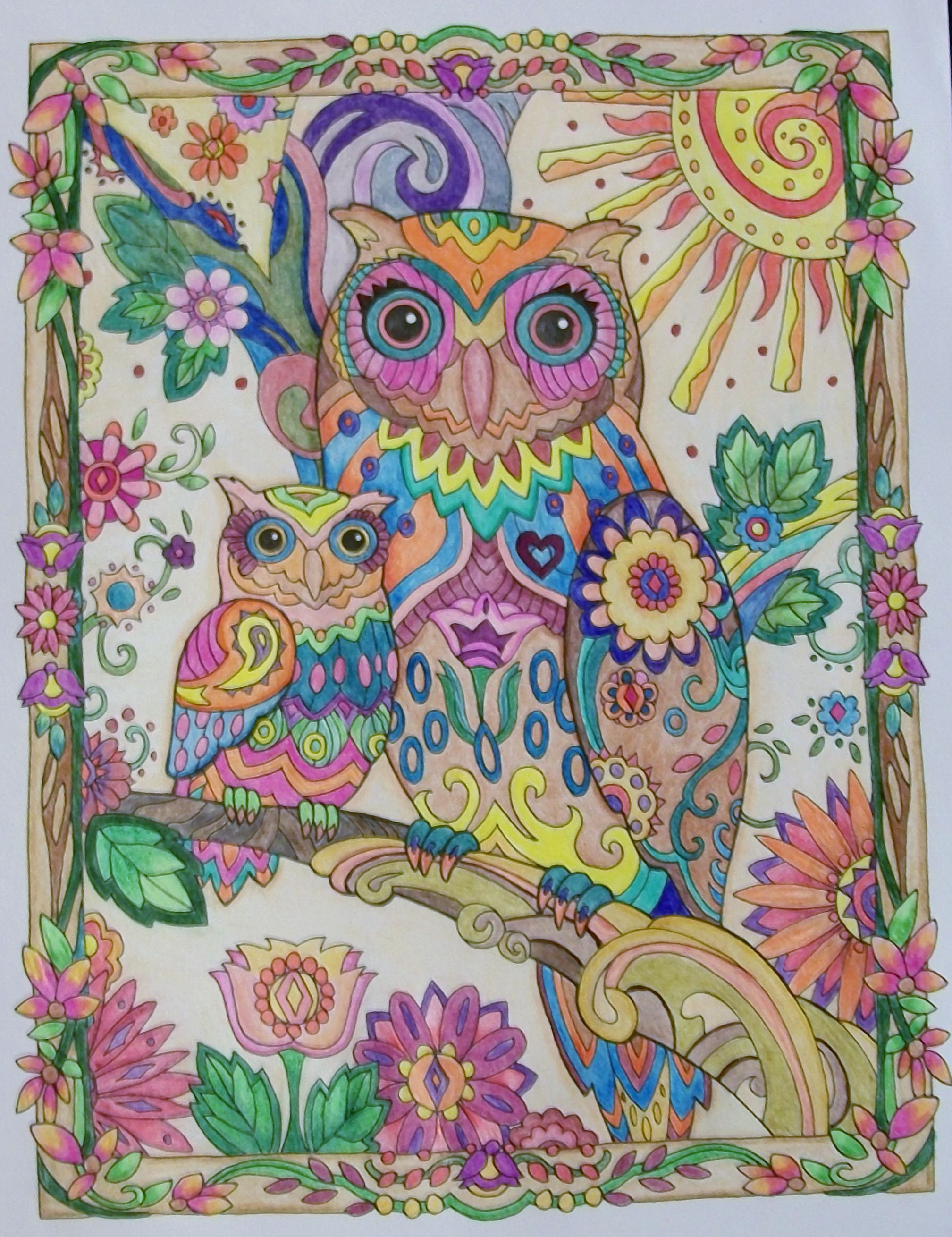 From Owls A Creative Haven Coloring Book Coloring Book Art Animal Coloring Pages Coloring Books