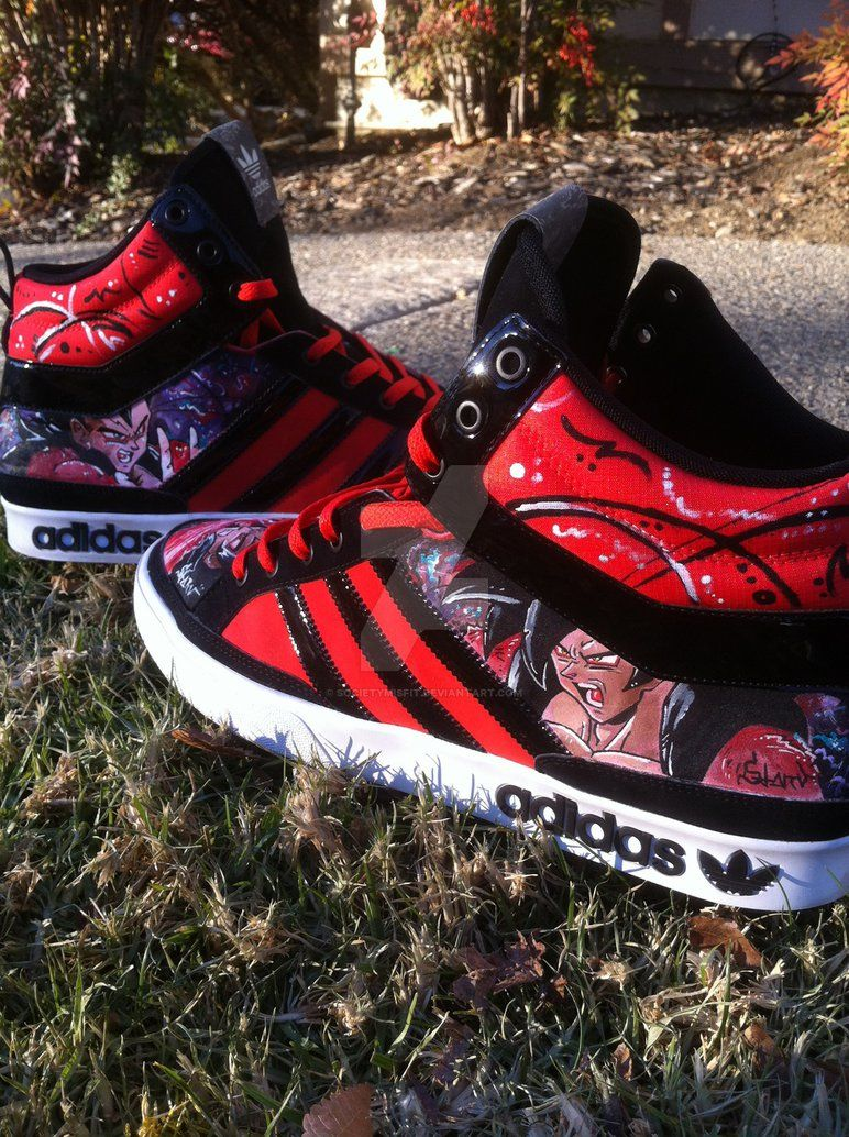 c7313f68c82fbe SSJ 4 Goku and Vegeta custom shoes by societymisfit